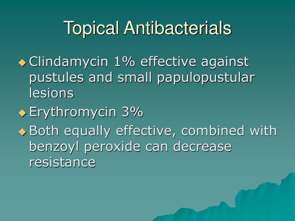 Topical Antibacterials