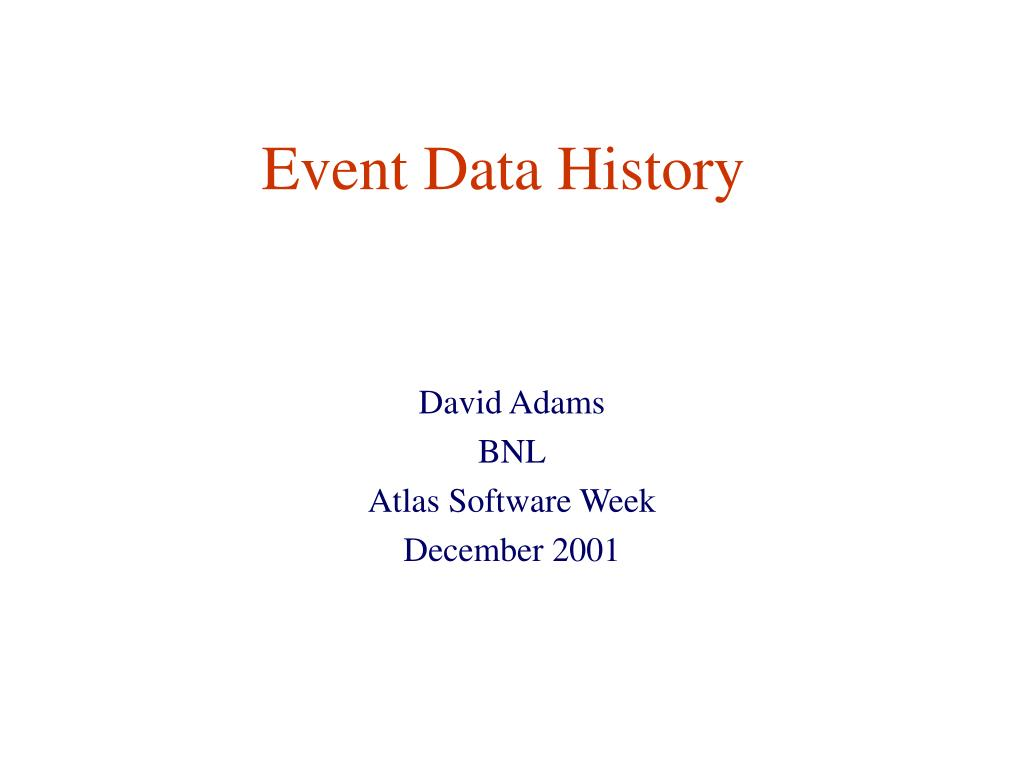 event data history l.