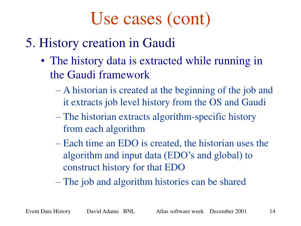 Use cases (cont)