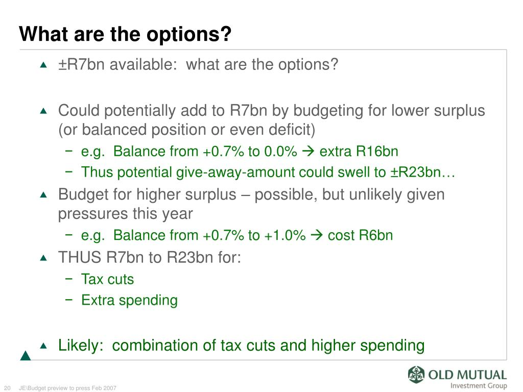 What are the options?