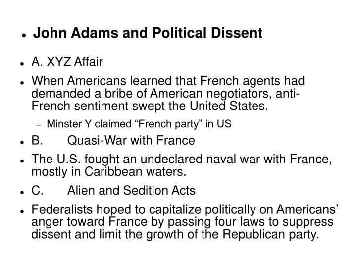 John adams and political dissent