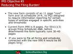 irs objective 3 reducing the filing burden