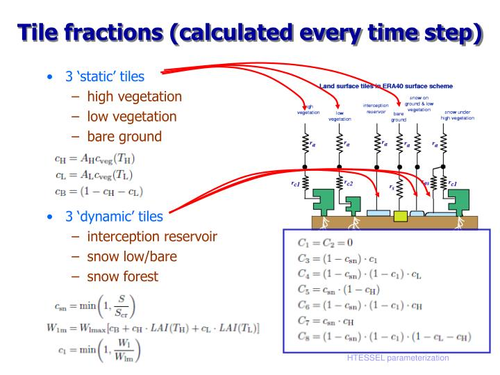 Tile fractions (calculated every time step)