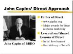 john caples direct approach