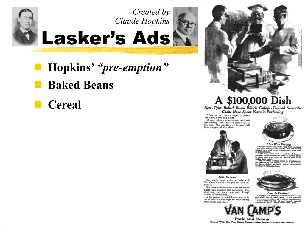 Lasker's Ads