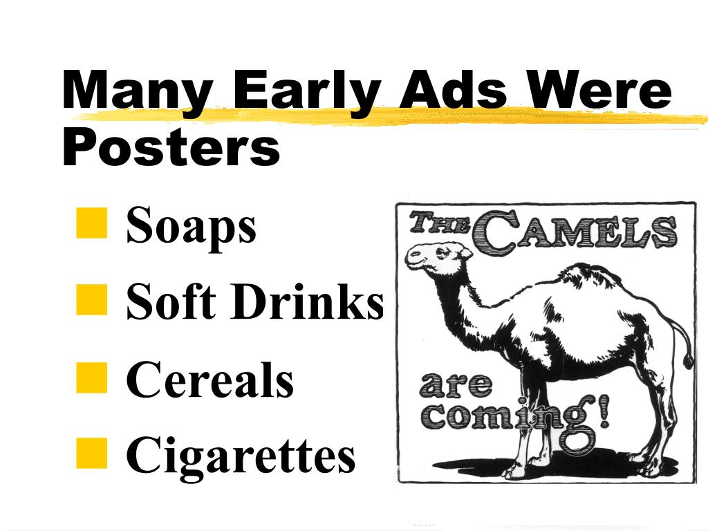 Many Early Ads Were
