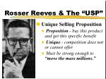 rosser reeves the usp