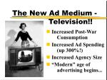 the new ad medium television