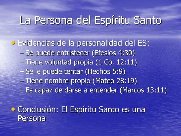 La Persona del Espíritu Santo