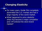 changing elasticity
