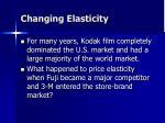changing elasticity