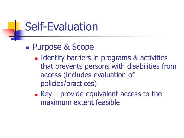 Self evaluation3