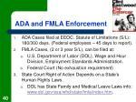 ada and fmla enforcement