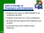 ada coverage of employers and employees