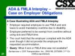 ada fmla interplay case on employer obligations