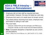 ada fmla interplay cases on reinstatement