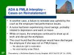 ada fmla interplay cases on reinstatement37