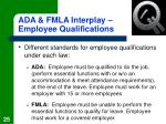 ada fmla interplay employee qualifications