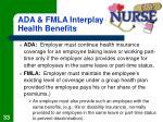 ada fmla interplay health benefits
