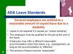 ada leave standards