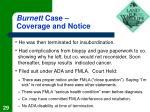 burnett case coverage and notice29