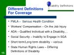 different definitions for coverage