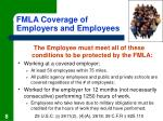 fmla coverage of employers and employees