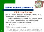fmla leave requirements