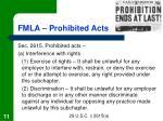 fmla prohibited acts