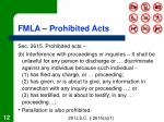 fmla prohibited acts12