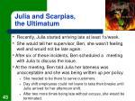 julia and scarpias the ultimatum