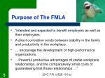 purpose of the fmla