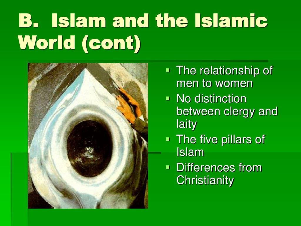 B.  Islam and the Islamic World (cont)