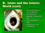 b islam and the islamic world cont