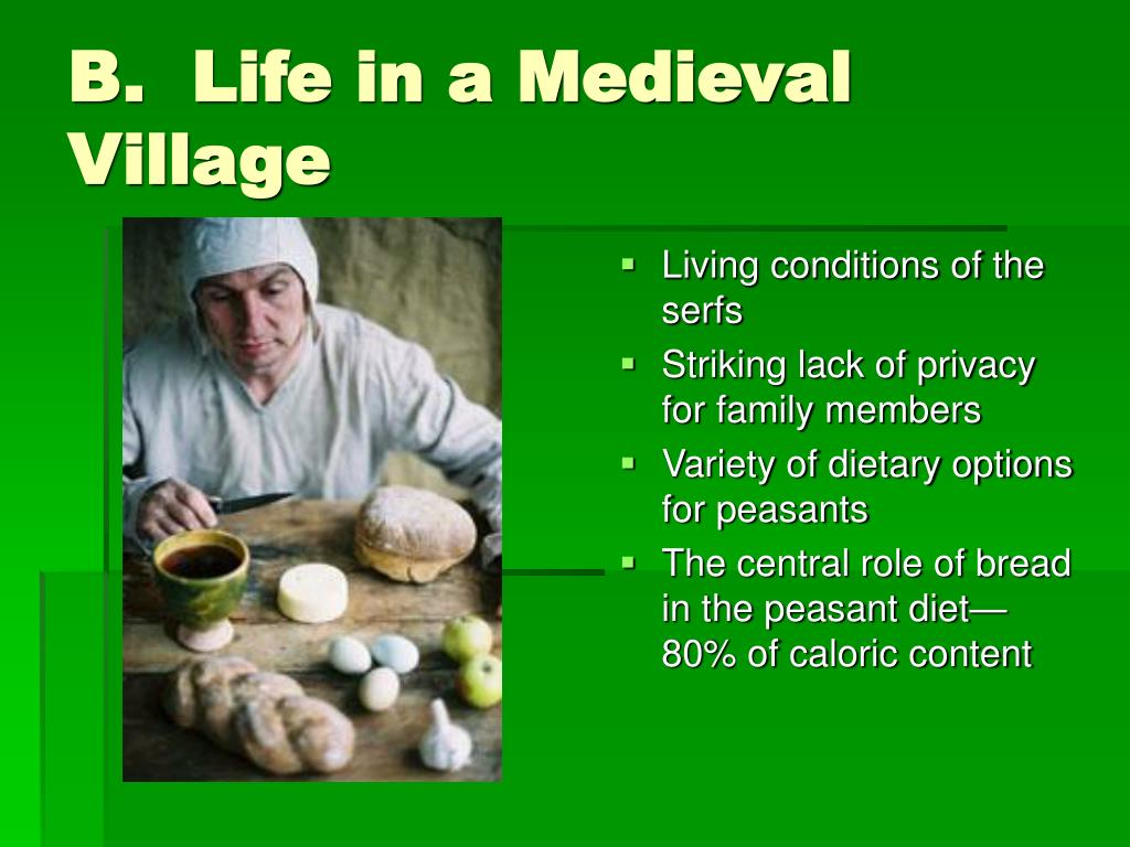 B.  Life in a Medieval Village