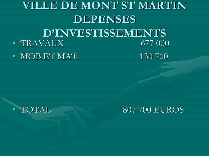 VILLE DE MONT ST MARTIN