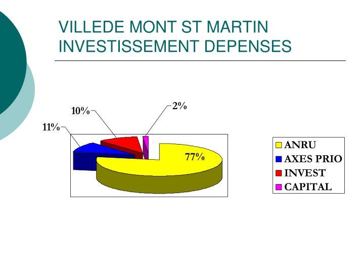 VILLEDE MONT ST MARTIN