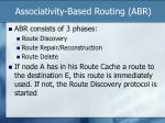 associativity based routing abr1