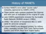 history of manets