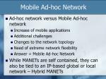 mobile ad hoc network1