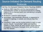 source initiated on demand routing protocols