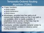 temporally ordered routing algorithm tora1