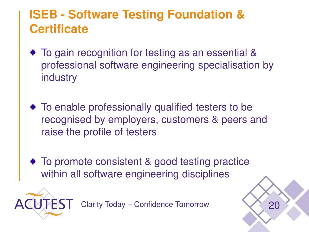 ISEB - Software Testing Foundation & Certificate