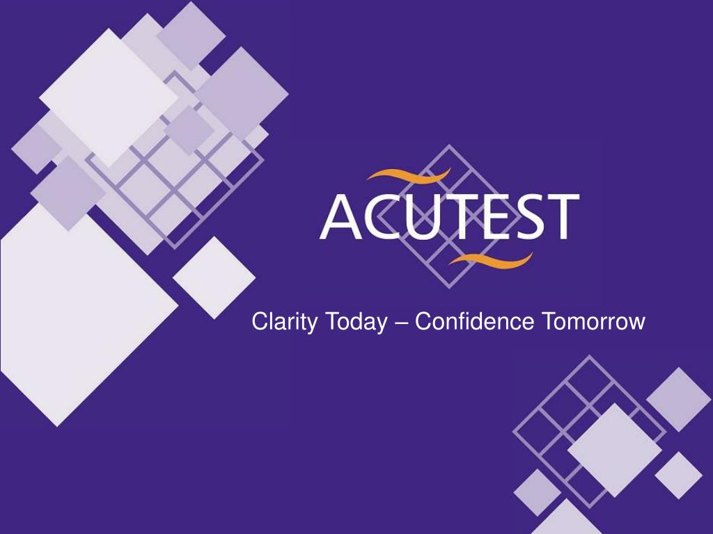 Clarity Today – Confidence Tomorrow
