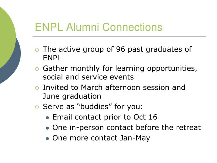 ENPL Alumni Connections