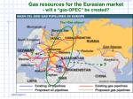 gas resources for the eurasian market will a gas opec be created