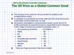 not only private economic interests the oil price as a global common good