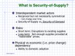what is security of supply