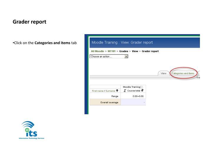 Grader report