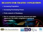 reasons for traffic congestion
